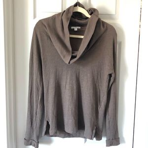 James Perse cowl neck top long sleeve